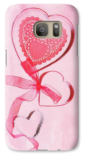 Galaxy Case featuring the photograph Hearts by Rebecca Cozart