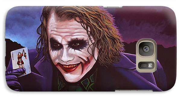 Heath Ledger As The Joker Painting Galaxy Case by Paul Meijering