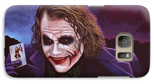 Knight Galaxy S7 Case - Heath Ledger As The Joker Painting by Paul Meijering