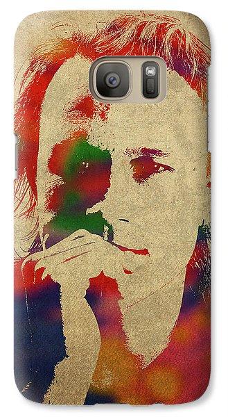 Heath Ledger Watercolor Portrait Galaxy S7 Case