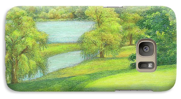 Galaxy Case featuring the painting Heavenly Golf Course Landscape by Judith Cheng