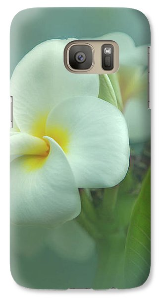 Galaxy Case featuring the photograph Heavenly Plumeria by Angie Vogel