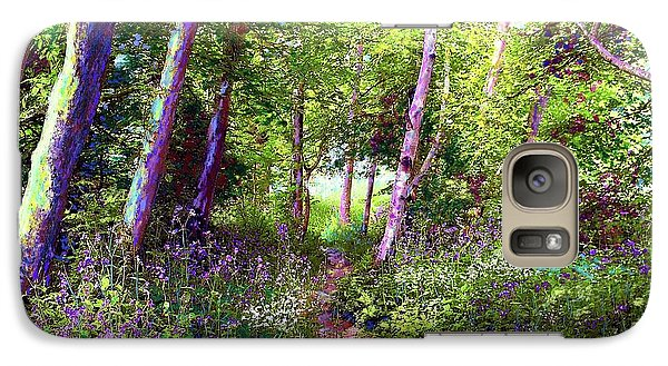 Galaxy Case featuring the painting Heavenly Walk Among Birch And Aspen by Jane Small