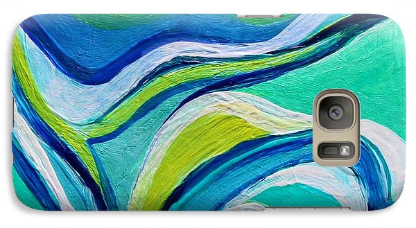 Galaxy Case featuring the painting Heavy Bud by Polly Castor