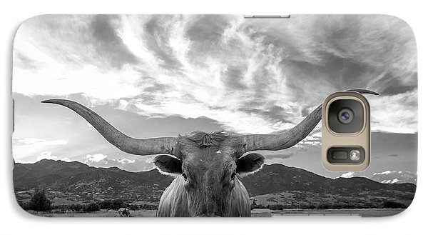 Cow Galaxy S7 Case - Heber Valley Longhorn by Johnny Adolphson
