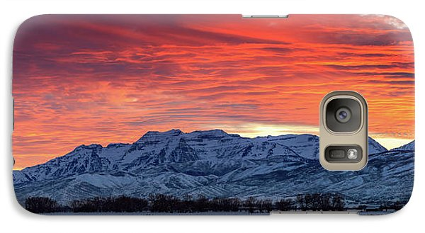 Galaxy Case featuring the photograph Heber Valley Panoramic Winter Sunset. by Johnny Adolphson