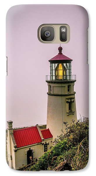 Heceta Head Lighthouse In The Fog Galaxy S7 Case