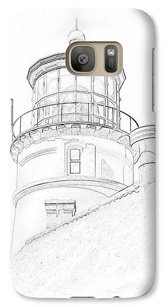 Hecitia Head Lighthouse Sketch Galaxy S7 Case