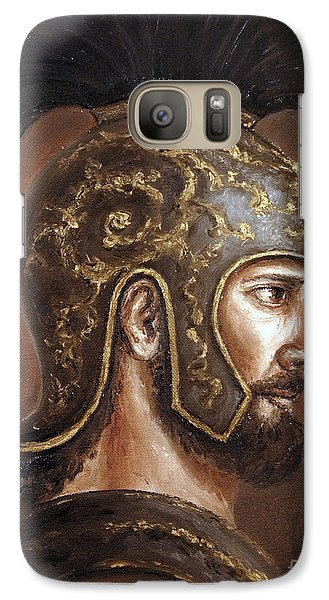 Galaxy Case featuring the painting Hector by Arturas Slapsys