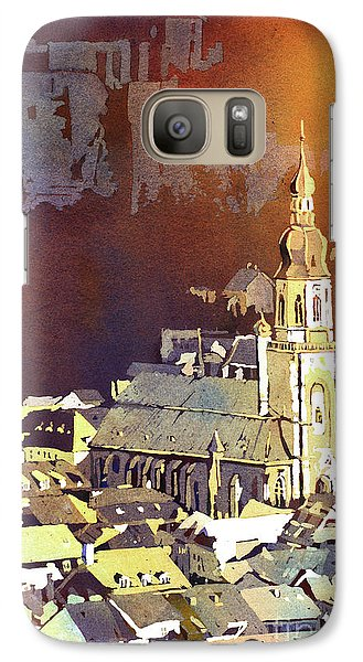 Galaxy Case featuring the painting Heidelberg Sunset- Germany by Ryan Fox