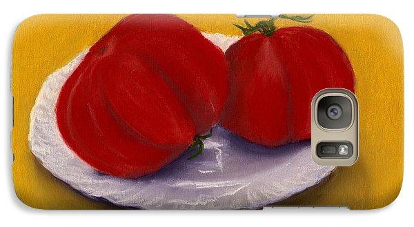 Galaxy S7 Case featuring the drawing Heirloom Tomatoes by Anastasiya Malakhova