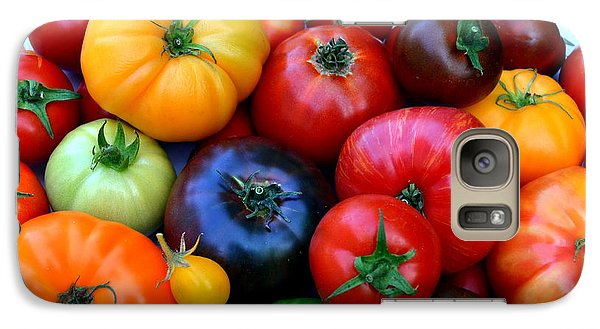 Galaxy Case featuring the photograph Heirloom Tomatoes by Vivian Krug