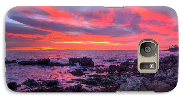 Galaxy Case featuring the photograph Heisler Park Tide Pools At Dusk by Eddie Yerkish