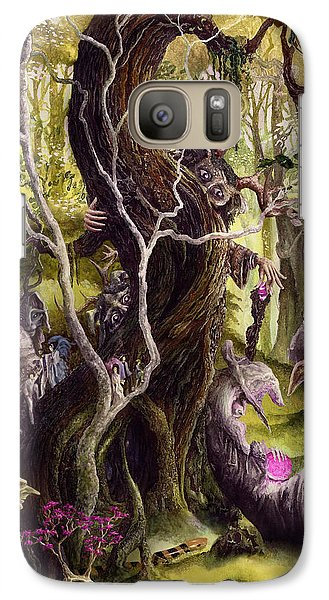Galaxy Case featuring the painting Heist Of The Wizard's Staff by Curtiss Shaffer