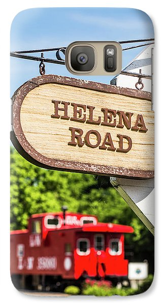 Galaxy Case featuring the photograph Helena Road Sign by Parker Cunningham