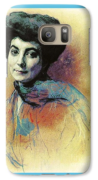 Galaxy Case featuring the painting Helena Roerich by Pg Reproductions