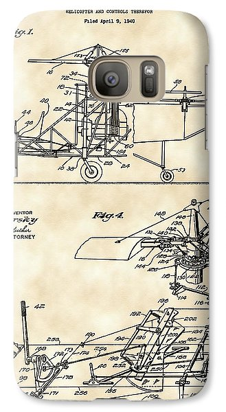 Helicopter Galaxy S7 Case - Helicopter Patent 1940 - Vintage by Stephen Younts