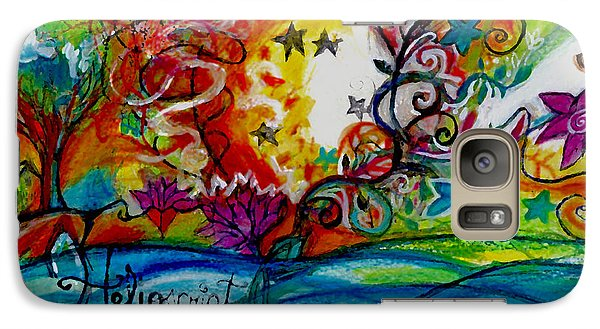 Galaxy Case featuring the painting Helios And Ophelia  by Genevieve Esson