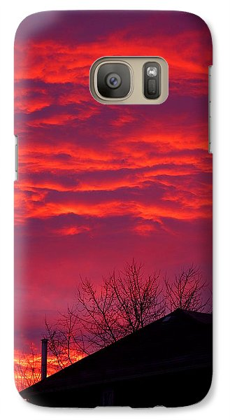 Galaxy Case featuring the photograph Hell Over Ontario by Valentino Visentini