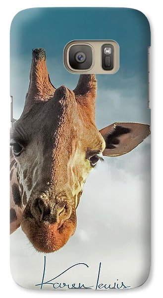 Galaxy Case featuring the photograph Hello Down There by Karen Lewis