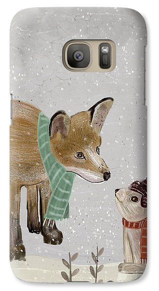 Galaxy Case featuring the painting Hello Mr Fox by Bri B