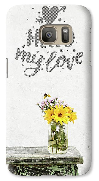 Galaxy Case featuring the photograph Hello My Love Card by Edward Fielding