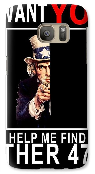 Galaxy Case featuring the digital art Help Me Find My Other 47 by The GYPSY And DEBBIE