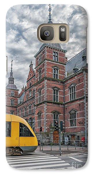 Galaxy Case featuring the photograph Helsingor Train Station by Antony McAulay