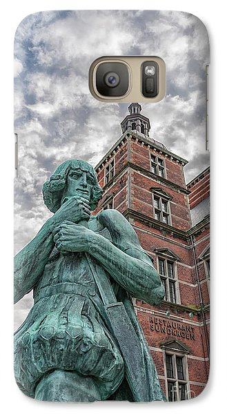 Galaxy Case featuring the photograph Helsingor Train Station Statue by Antony McAulay