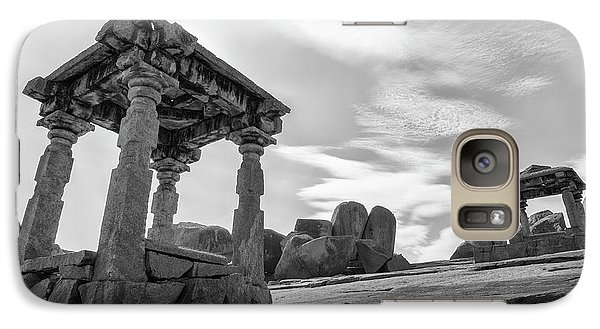 Galaxy S7 Case featuring the photograph Hemakuta Hill, Hampi, 2017 by Hitendra SINKAR