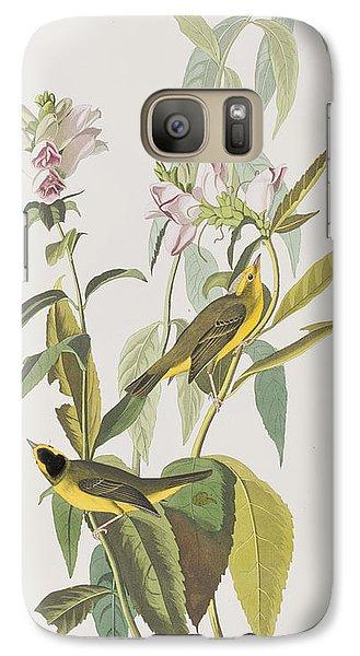 Warbler Galaxy S7 Case - Hemlock Warbler by John James Audubon