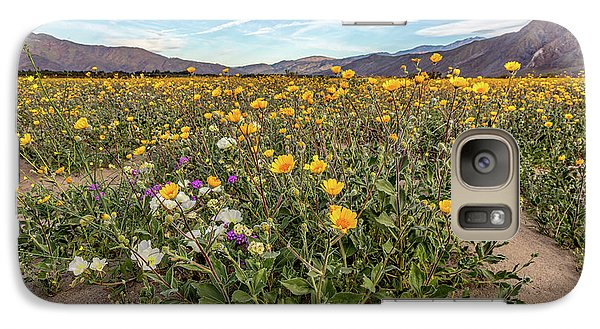 Galaxy Case featuring the photograph Henderson Canyon Super Bloom by Peter Tellone