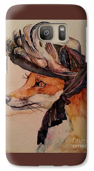 Galaxy Case featuring the painting Henrietta Fox by Christy  Freeman