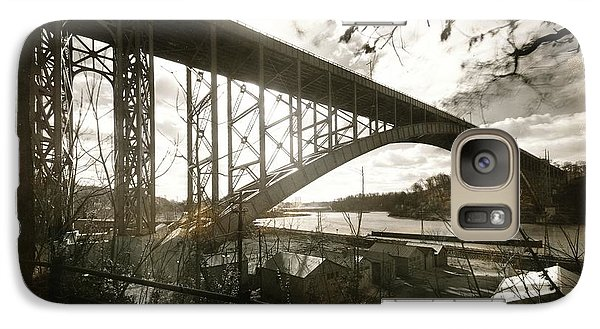 Galaxy Case featuring the photograph Henry Hudson Bridge, 1936 by Cole Thompson