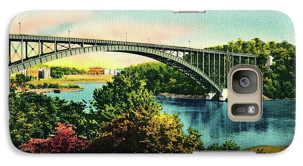 Galaxy Case featuring the photograph Henry Hudson Bridge Postcard by Cole Thompson