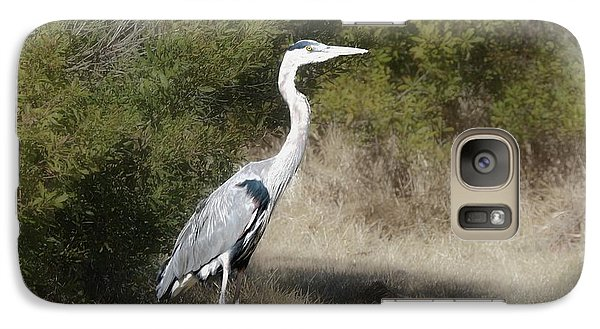 Galaxy Case featuring the photograph Henry The Heron by Benanne Stiens
