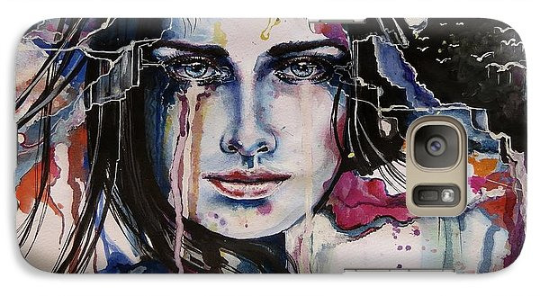 Galaxy Case featuring the painting Her Sacrifice by Geni Gorani
