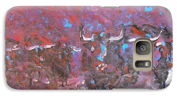 Galaxy Case featuring the painting Herd Of Bulls by Koro Arandia