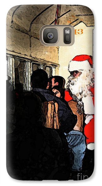 Galaxy Case featuring the photograph Here Come Santa by Kim Henderson