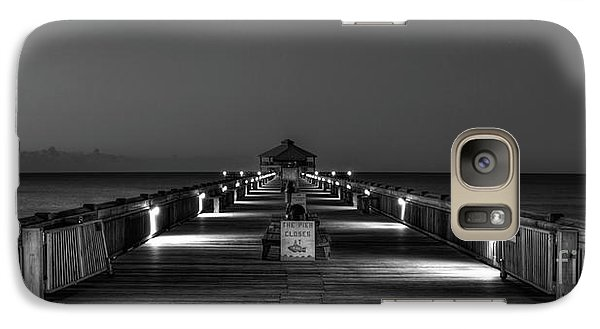 Galaxy Case featuring the photograph Here It Comes Folly Beach Pier Sunrise Art by Reid Callaway