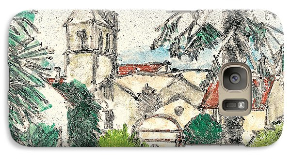 Galaxy Case featuring the painting Herepian Village In Provence by Martin Stankewitz