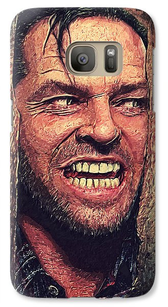 Here's Johnny - The Shining  Galaxy Case by Taylan Apukovska