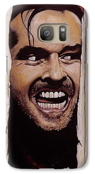 Here's Johnny Galaxy Case by Tom Carlton
