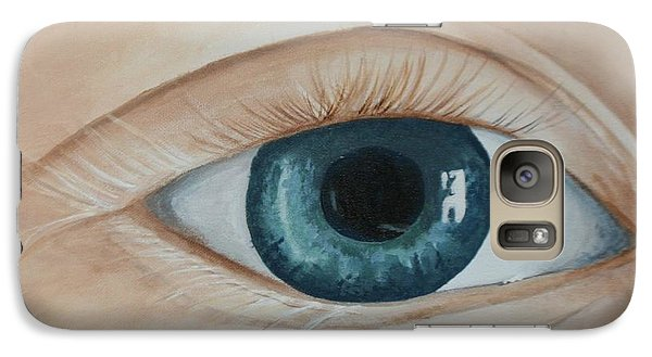 Galaxy Case featuring the painting Heres Looking At You by Betty-Anne McDonald