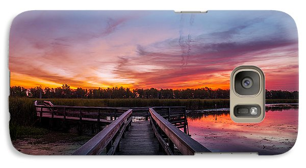 Galaxy Case featuring the photograph Heritage Boardwalk Twilight by Chris Bordeleau