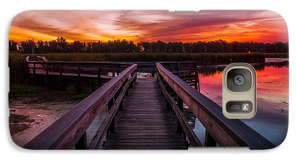 Galaxy Case featuring the photograph Heritage Boardwalk Twilight - Square by Chris Bordeleau