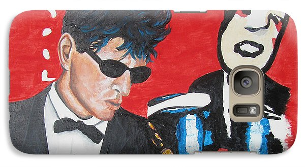 Galaxy Case featuring the painting Herman Brood Jamming With His Art by Jeepee Aero