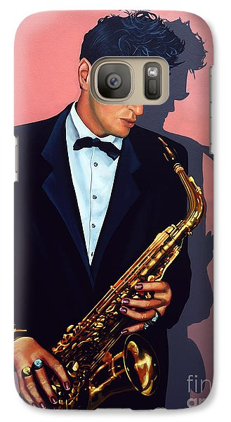 Saxophone Galaxy S7 Case - Herman Brood by Paul Meijering