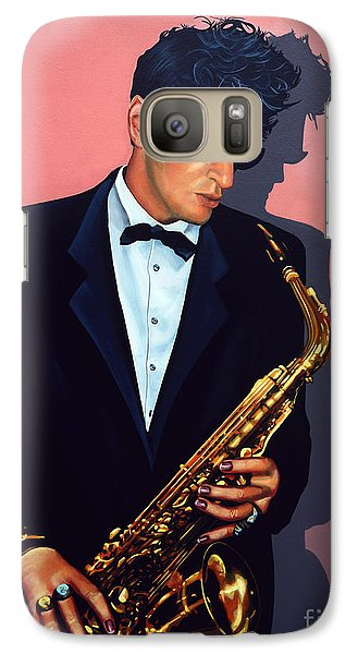 Saxophone Galaxy S7 Case - Herman Brood by Paul Meijering