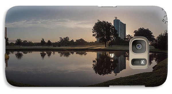 Galaxy Case featuring the photograph Hermann Park Sunrise by Joshua House